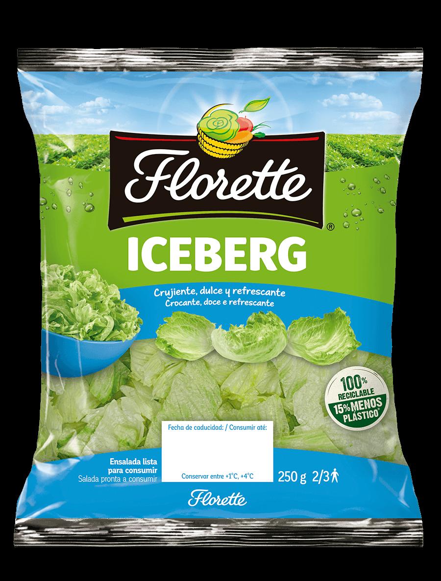 Bolsa de ensalada con lechuga iceberg