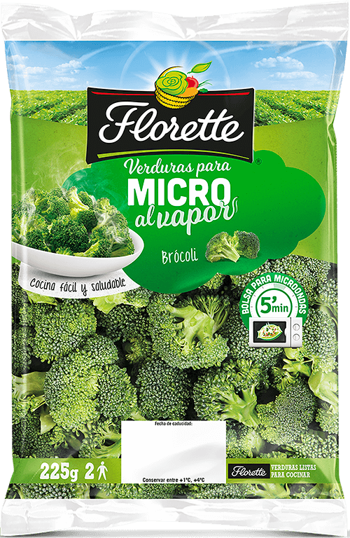 Bolsa de brócoli para el microondas