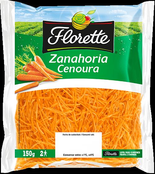 Bolsa de ensalada con zanahoria rallada