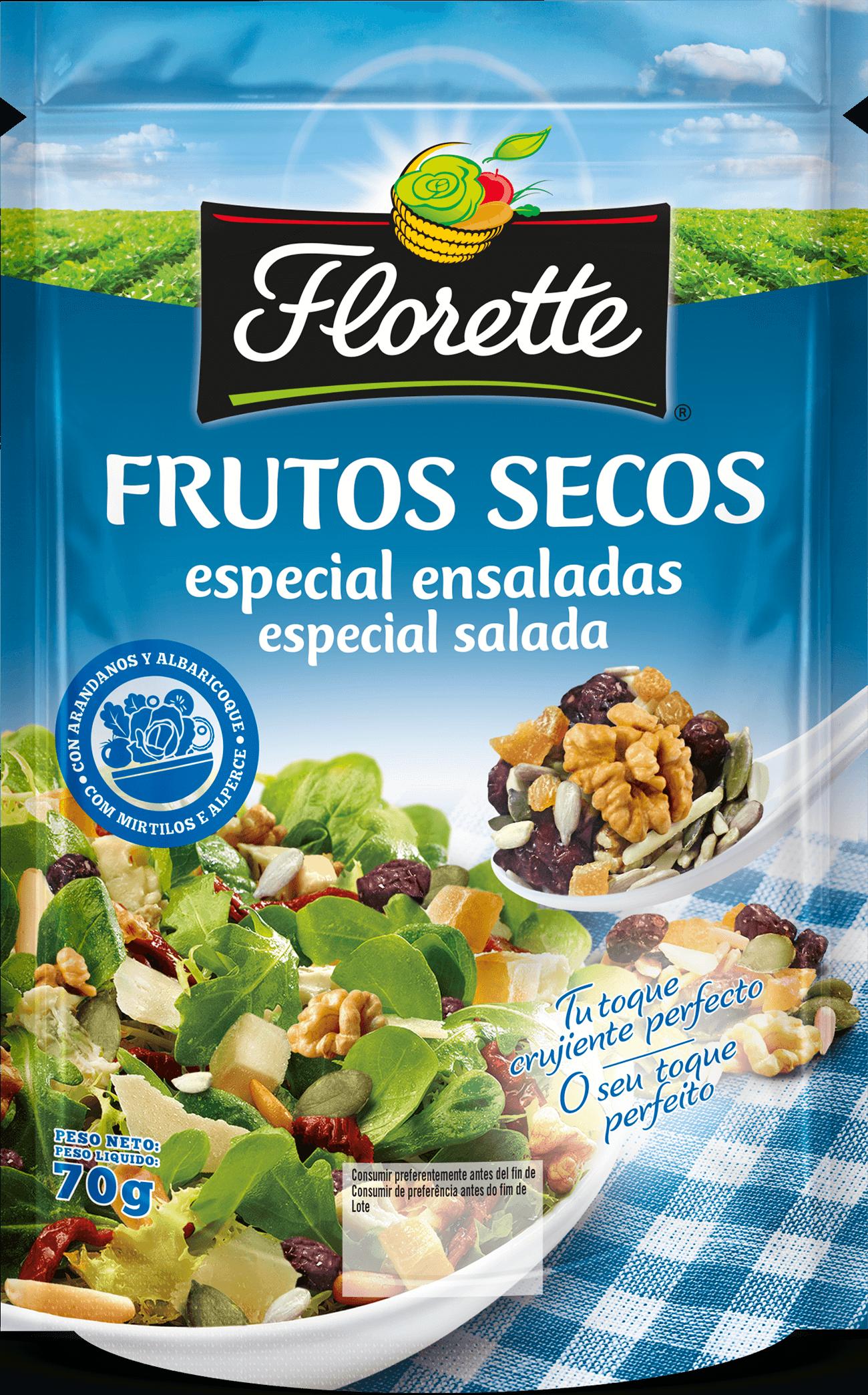 Bolsa con semillas de girasol, arándanos azules desecados, albaricoque, pipas de calabaza, almendras y nueces
