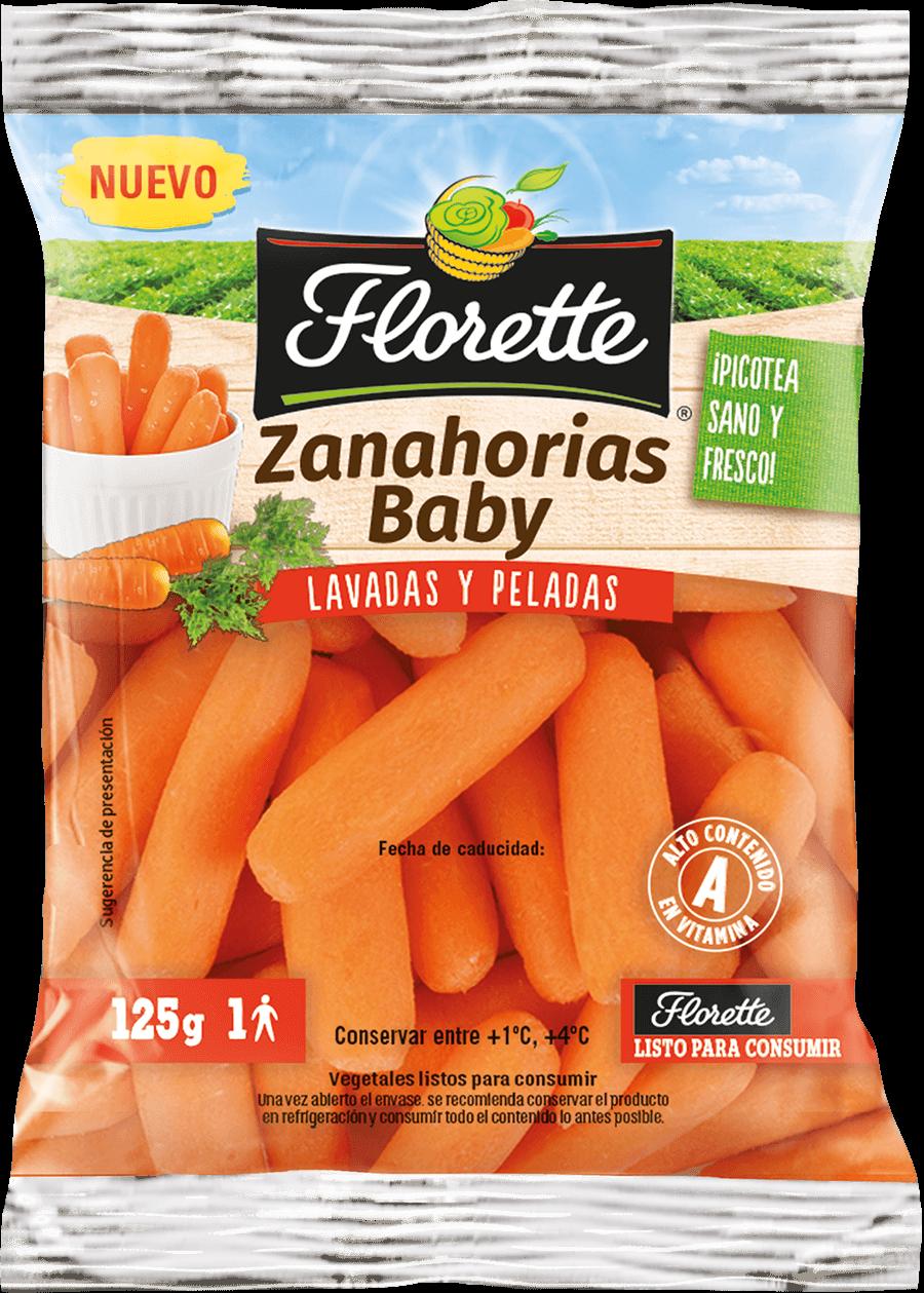 Bolsa con zanahorias baby