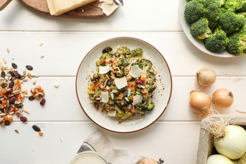 Cómo hacer una receta de Ensalada templada de Brócoli