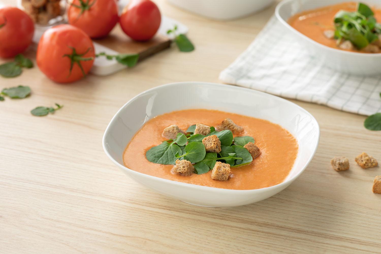 Cómo hacer una receta de Sopa de tomate