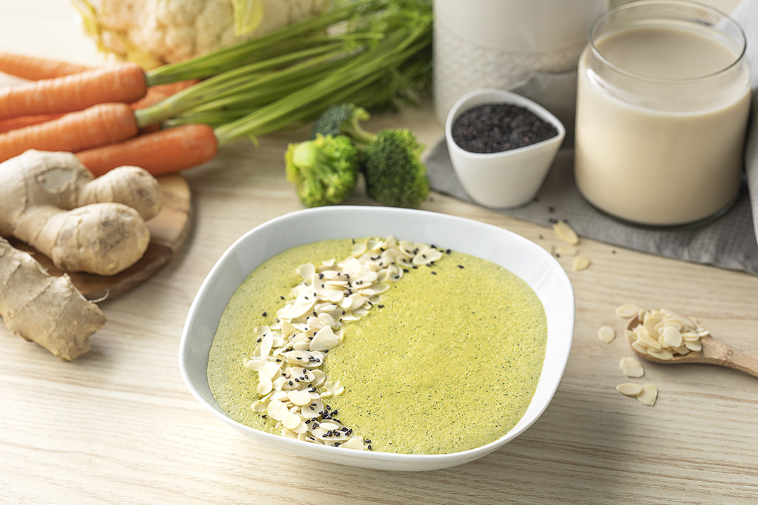 Cómo hacer una receta de Crema de verduras y jengibre