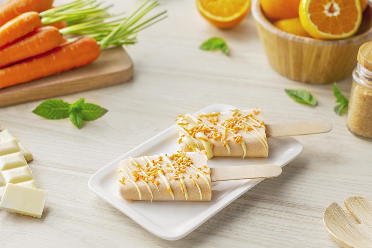 Cómo hacer una receta de Polos de zanahoria y naranja