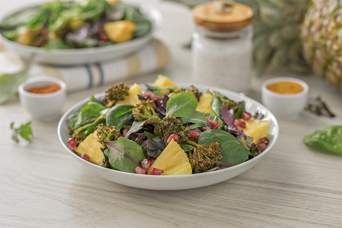 Cómo hacer una receta de Ensalada de broccolini especiado